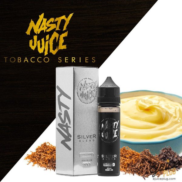 Silver Blend Tobacco Series by Nasty Juice 60ml / 3MG NIC.