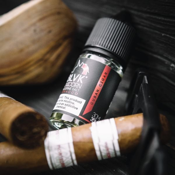 LIQUIDO SALT NIC BLVK - CUBAN CIGAR 30ML