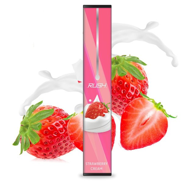 POD DESCARTÁVEL RUSH - STRAWBERRY CREAM