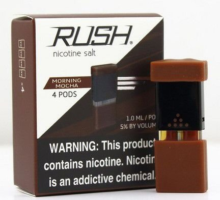 REFIL RUSH (PACK 4) MORNING MOCHA - 100% JUUL COMPATIVEL E COM MAIS LIQUIDO