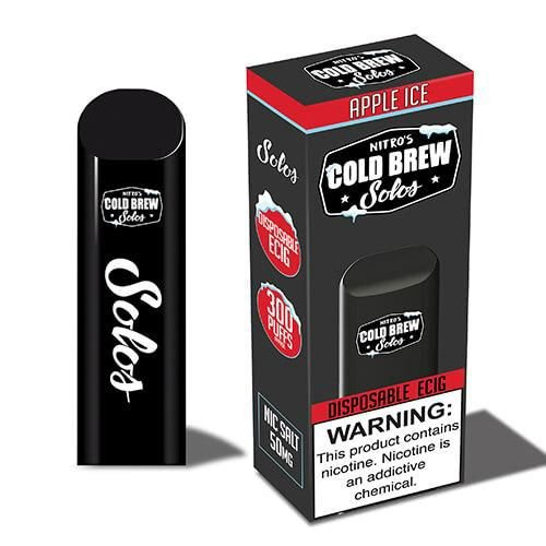 POD SYSTEM DESCARTAVEL COLD BREW SOLOS SALT NIC 50MG - APPLE ICE 350MAH