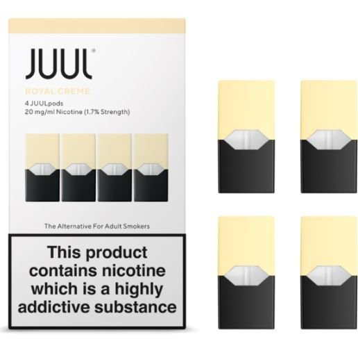 REFIL JUUL (PACK OF 4) ROYAL CREME 1,7% LONDRES
