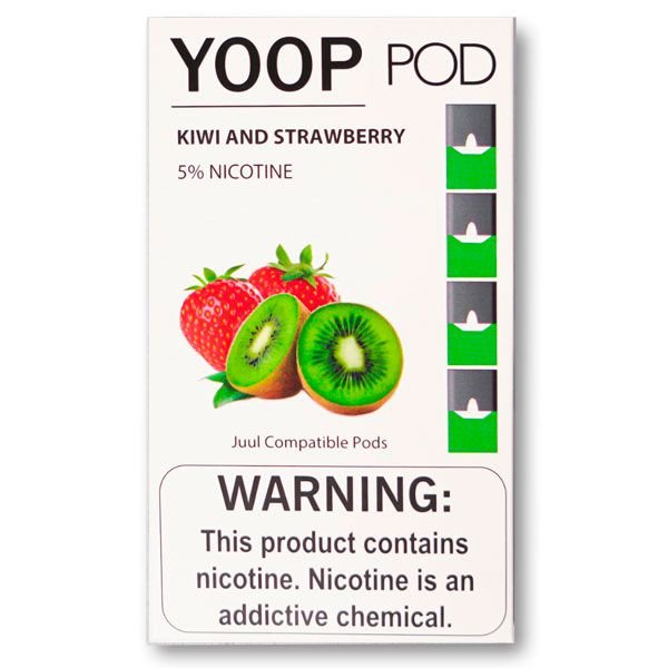 YOOP POD KIWI AND STRAWBERRY 50MG SALT NIC - COMPATÍVEL COM O JUUL