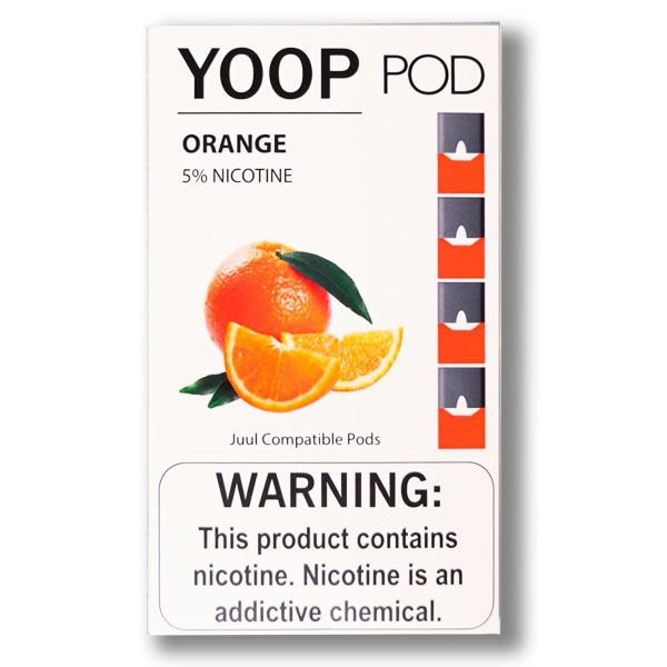 YOOP POD ORANGE 50MG SALT NIC - COMPATÍVEL COM O JUUL