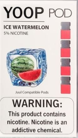YOOP POD ICE WATERMELON  50MG SALT NIC - COMPATÍVEL COM O JUUL