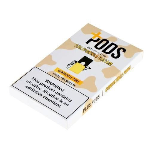 PLUS PODS CALIFORNIA CREAM (4 PACK) 6% SALT NIC (COMPATÍVEL COM O JUUL)
