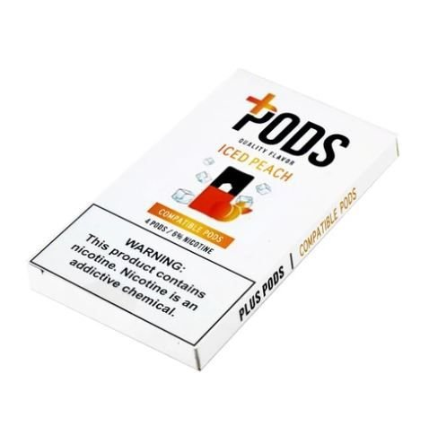 PLUS PODS ICED PEACH (4 PACK) 6% SALT NIC (COMPATÍVEL COM O JUUL)