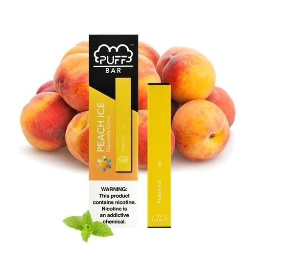 PUFF BAR - DISPOSABLE POD DEVICE - DESCARTAVEL- PEACH ICE