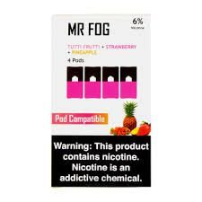 MR FOG TUTTI FRUTTI+STRAWBERRY+PINEAPPLE - JUUL COMPATIBLE