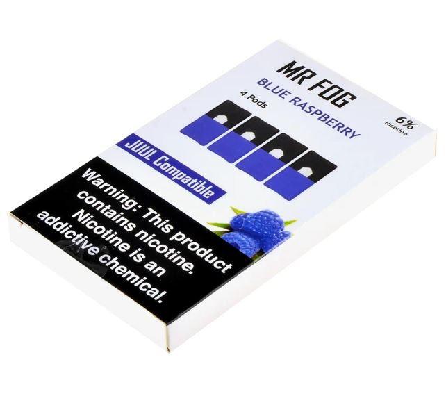 MR FOG BLUE RASPBERRY- JUUL COMPATIBLE 6% NICOTINE SALT