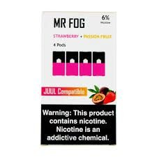 MR FOG STRAWBERRY+PASSION FRUIT- JUUL COMPATIBLE