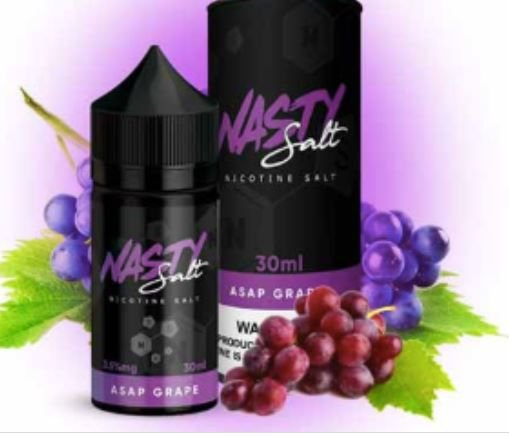 LIQUIDO ASAP GRAPE - NASTY SALT 35MG - 30ML