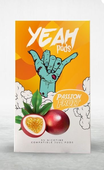 YEAH PODS - PASSION FRUIT - COMPATÍVEL COM JUUL