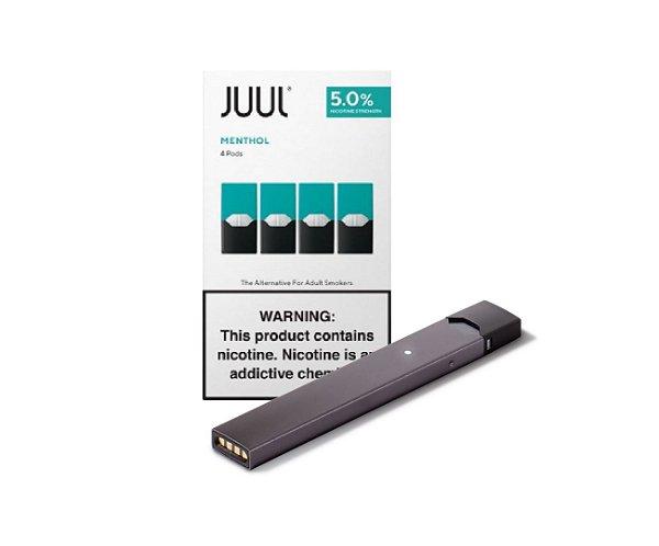 Combo Juul -1 refil Menthol + 1 Device Juul Silver
