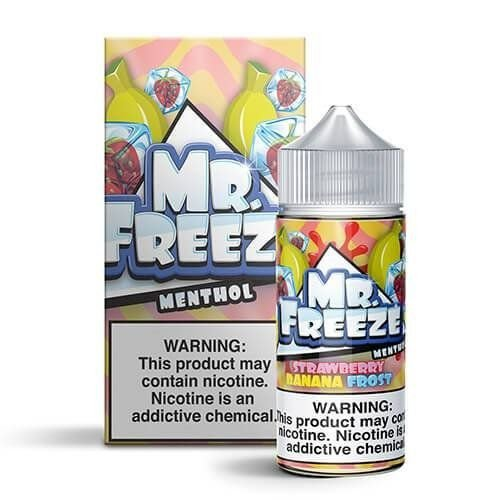 LIQUIDO MR. FREEZE STRAWBERRY BANANA FROST - 50MG SALT NIC - 30ML