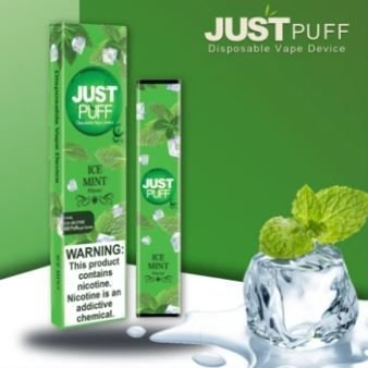 JUST PUFF - DISPOSABLE POD DEVICE - DESCARTAVEL-  ICE MINT