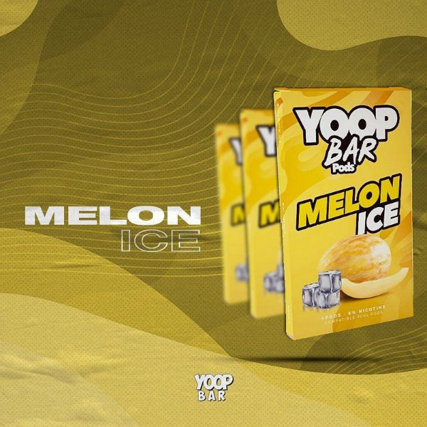 YOOP BAR POD MELON ICE 60MG SALT NIC - COMPATÍVEL COM O JUUL
