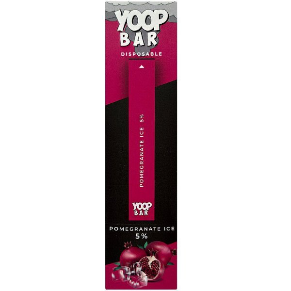 YOOP BAR DISPOSABLE POD DEVICE 50MG NIC SALT - DESCARTAVEL- POMEGRANATE ICE
