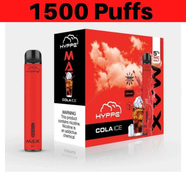 Hyppe Max Device Descartável Cola Ice | 1500 puffs - 1500 tragadas