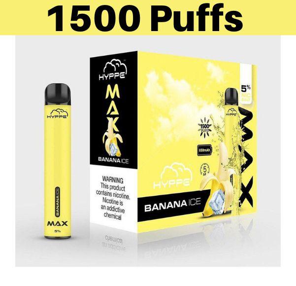 Hyppe Max Device Descartável Banana Ice | 1500 puffs - 1500 tragadas
