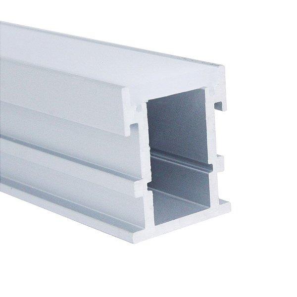 Perfil De Sobrepor Para Fita LED Com Difusor Em Acrílico Leitoso  2 Metros EKPF41