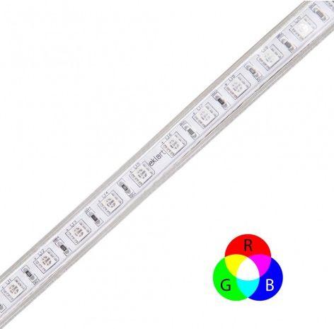 Fita de LED RGB Dimerizável 8W/M 127V IP65 25 metros SMD 5050 Plug and Play - Eklart
