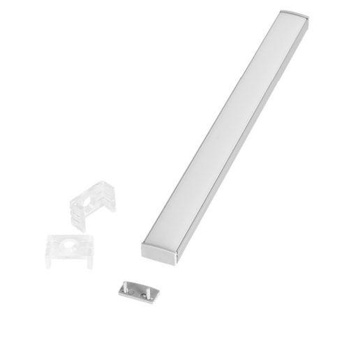 Perfil de Sobrepor 2 Metros Slim Para Fita LED Com Difusor em Acrílico Leitoso EKPF22 - Eklart
