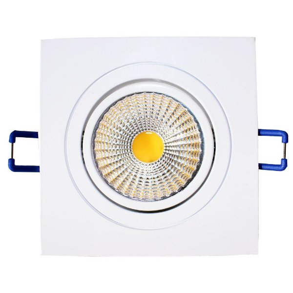 Spot de Embutir Quadrado LED 5W Bivolt Branco - Eklart