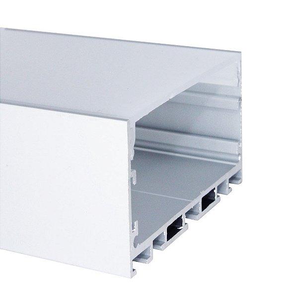 Perfil de Sobrepor ou Pendente 2 Metros Para Fita LED Com Difusor Leitoso - LUM63