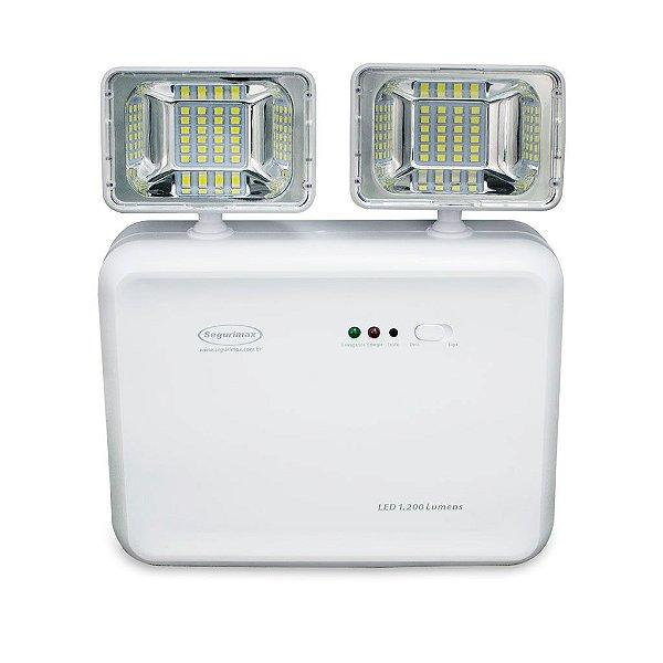 Iluminação de Emergência LED 1200 Lumens 2 Faróis Predial - 24707