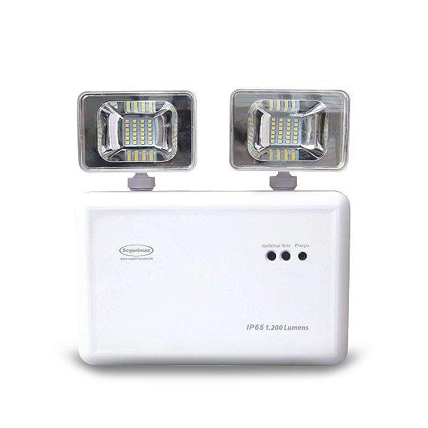 Iluminação de Emergência LED 1200 Lúmens Titan IP65 2 Fárois