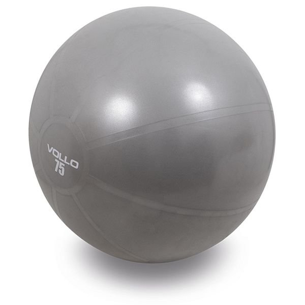 Bola Suiça Gym  Ball 75 cm Cinza - VOLLO