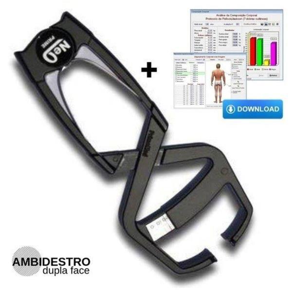 Plicômetro/Adipômetro CLÍNICO Neo II - Preto - PRIME MED