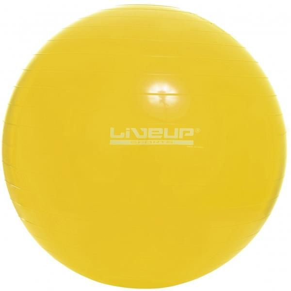 Bola Suiça 75cm Amarela - LIVEUP