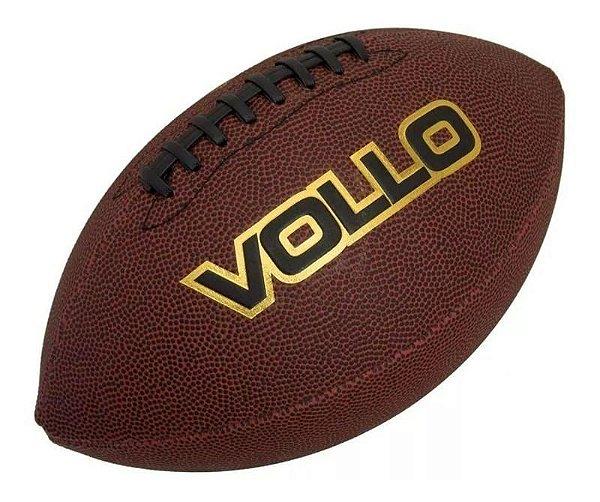 """Bola de Futebol Americano 9"""" - Marrom - VOLLO"""
