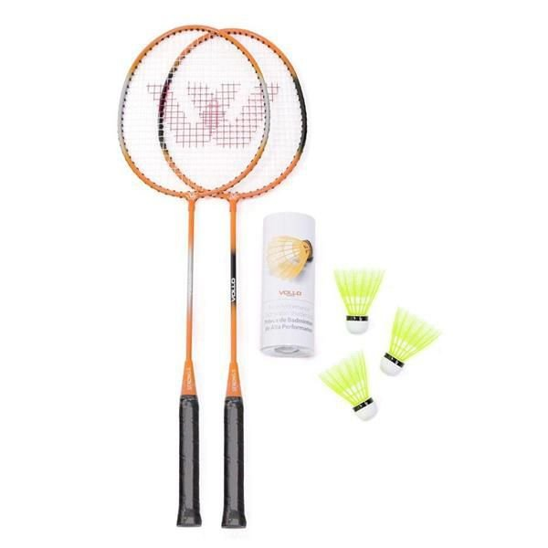 Kit Badminton 2 Raq 3 Petecas - VOLLO