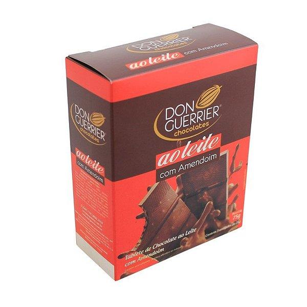 Tablete de Chocolate ao leite com Amendoim - Caixa com 3 unidades