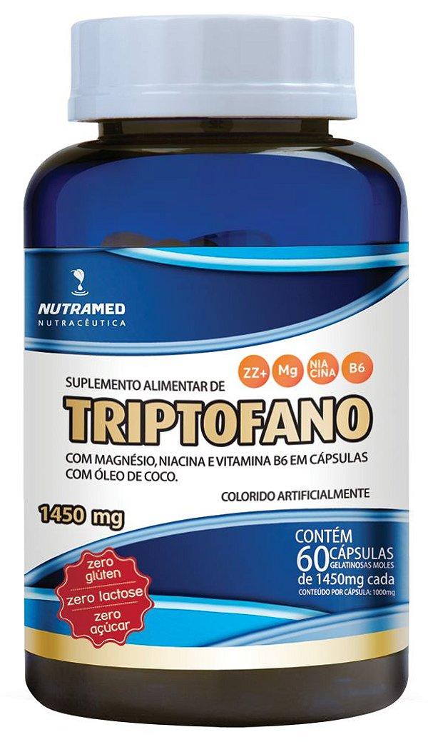 Triptofano + Vit. B3, B6 e Magnésio - 60 cápsulas