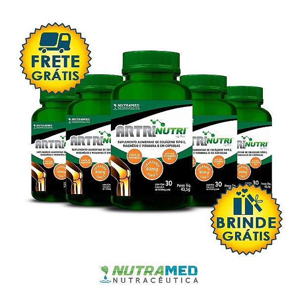 Artrinutri Colágeno Tipo 2 + Magnésio + Vitamina D3 - 30 Cápsulas - Kit 5 Unidades