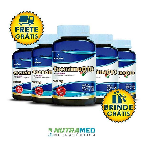 Coenzima Q10 + Colágeno e Vitaminas C e E - KIT 5 UNIDADES