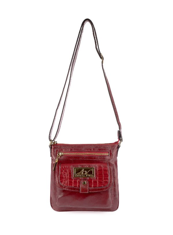 Bolsa Pequena Tiracolo Anny em couro legítimo vermelha