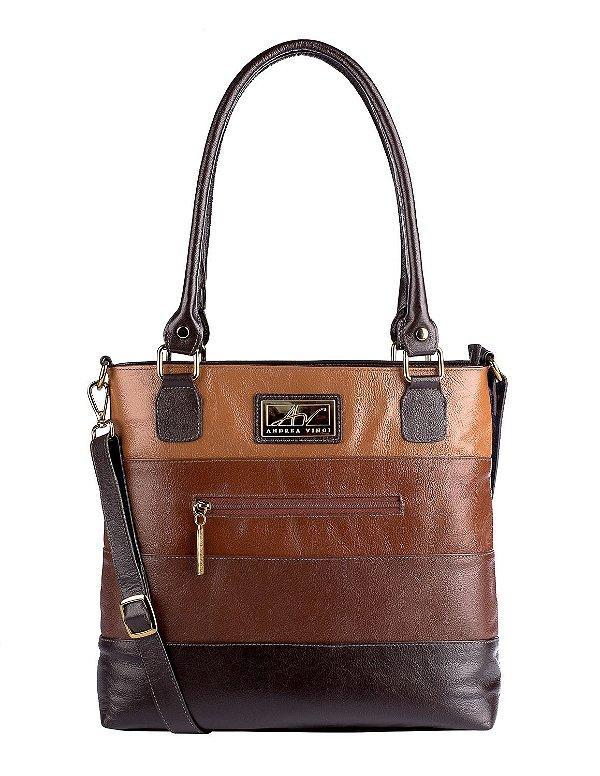 d69e02cac Bolsa Alice em couro legítimo café - Enluaze | Bolsas e acessórios ...