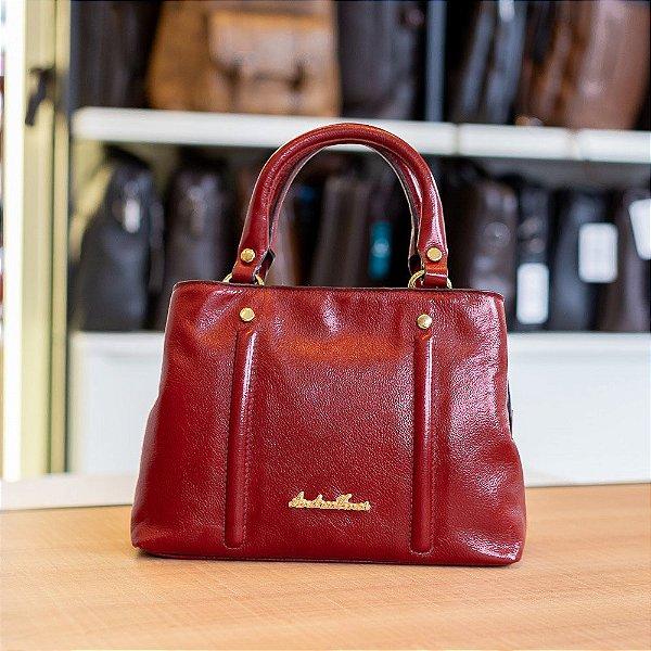 Bolsa de mão Melina em couro vermelha
