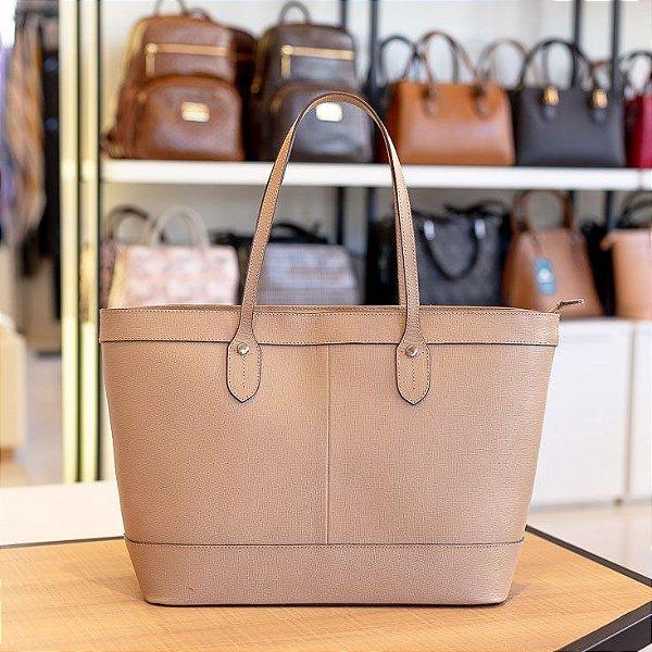 Bolsa Shopping bag de couro Martha nude