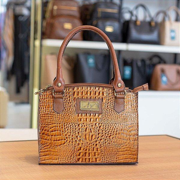 72d138e50 Bolsa de mão em couro Emily caramelo - Enluaze | Bolsas e acessórios ...
