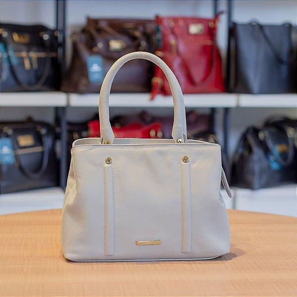 Bolsa de mão Melina em couro marfim