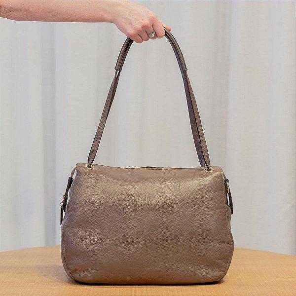 0077ab508 Bolsa feminina de couro Cláudia chocolate - Enluaze | Bolsas e ...
