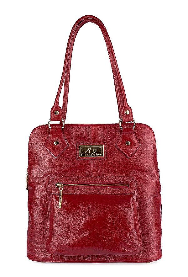 29ea70b0b5 Bolsa mochila em couro Andrea Vinci vermelha - Enluaze