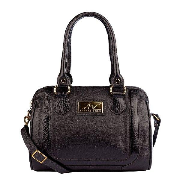 Bolsa Chessy em couro legítimo preta