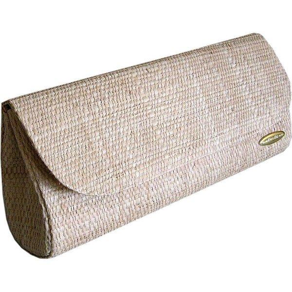 Clutch Bolsa Carteira de Mão em Palha de Buriti Crua